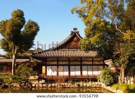 traditional wood house, Tokyo, Japan - stock photo