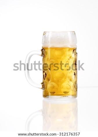 Traditionelles bayrisches MaÃ??Ã?? Bier - stock photo