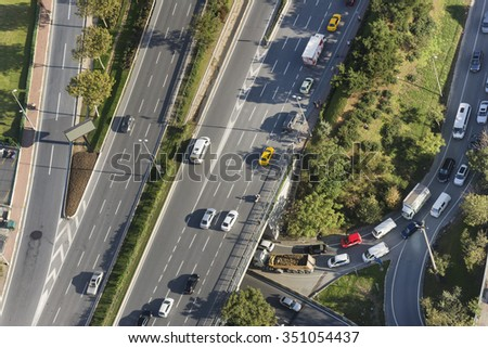 Traffic At Istanbul, Turkey - stock photo
