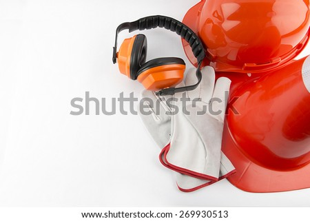 traffic cone and worker Construction - stock photo