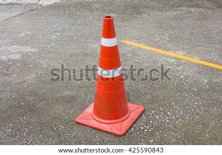 traffic cone,Highway road construction - stock photo
