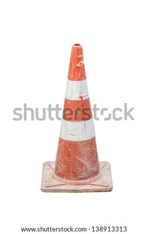 Traffic Cone isolated - stock photo