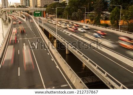 Traffic congestion  - stock photo