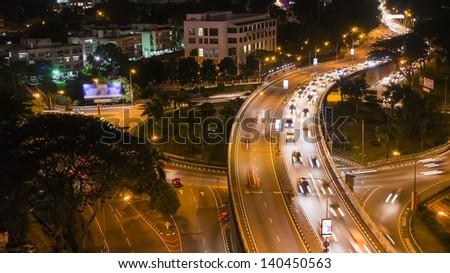 Traffic during Peak Hours in Kuala Lumpur, Malaysia - stock photo