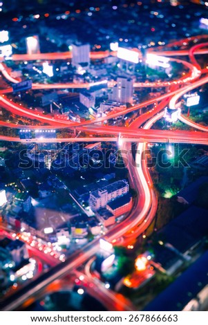 Traffic in Bangkok - stock photo