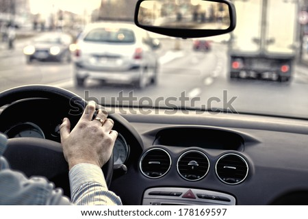 Traffic in the city - stock photo