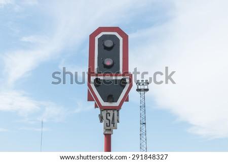 Traffic light poles - stock photo