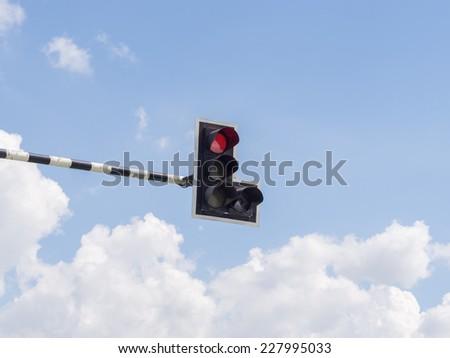 Traffic light : Red light - stock photo