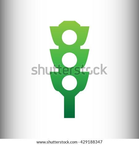 Traffic light sign - stock photo