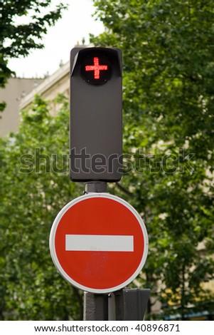 traffic lights, light signal, red - stock photo