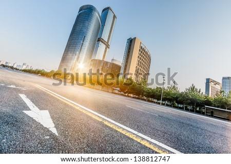 traffic of city - stock photo