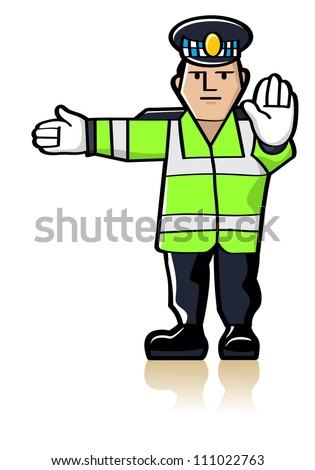 Traffic Officer - stock photo