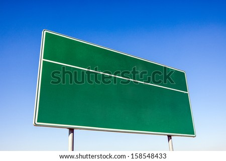 Traffic sign, driving direction - stock photo