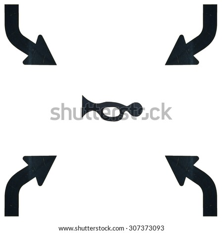 Traffic sign, seamless, isolated on white background. - stock photo