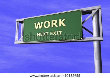 Traffic Sign - Work - stock photo
