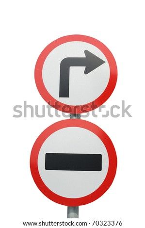 Traffic signs for rules. To prevent accidents - stock photo