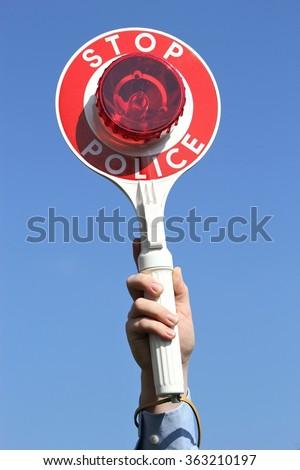 traffic stop - stock photo