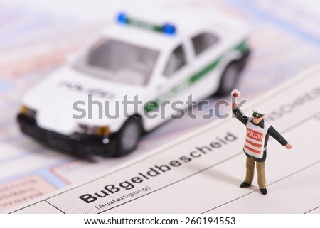 traffic ticket from german police - stock photo