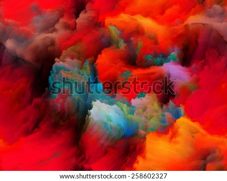 Tragedy of Color series. Abstract arrangement of pure color forms suitable as background for projects on art, passion, spirituality and inner world - stock photo