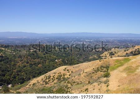 Trail at Alum Rock, San Jose, California, USA. - stock photo
