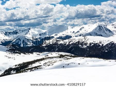 Trail Ridge Road Snow 7 - stock photo