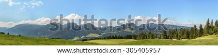 Trail Söllereck, Riezlern, Kleinwalsertal, Austria - stock photo