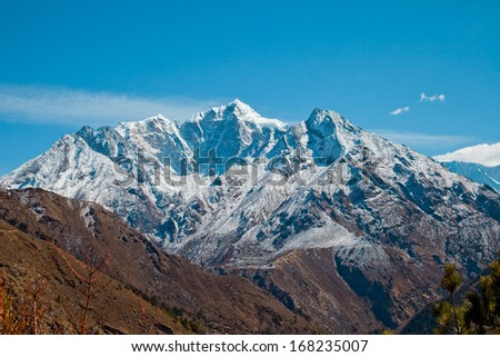 Trail to Everest base camp - stock photo