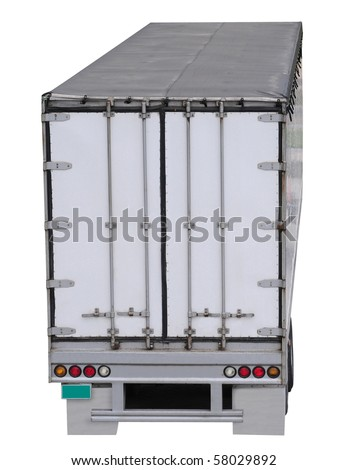 Trailer doors. Isolated - stock photo