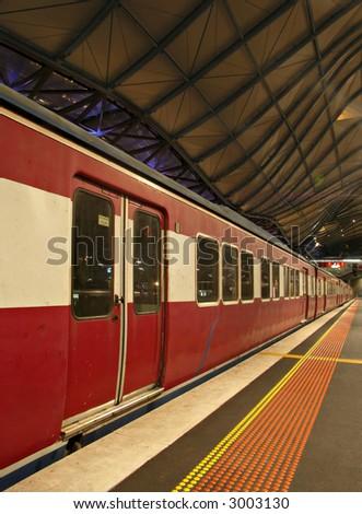 Train At Southern Cross Station, Melbourne Australia - stock photo