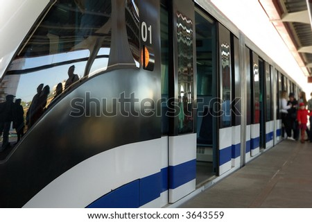 Train at station - stock photo