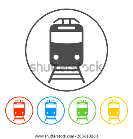 Train icon, isolated  - stock photo