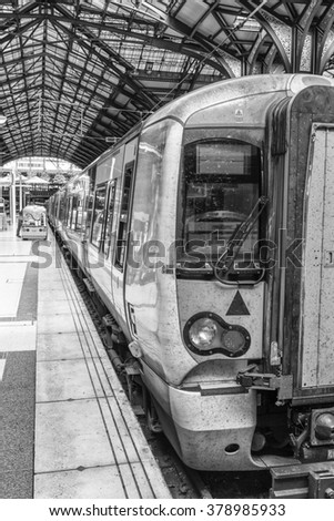 Train in station. - stock photo
