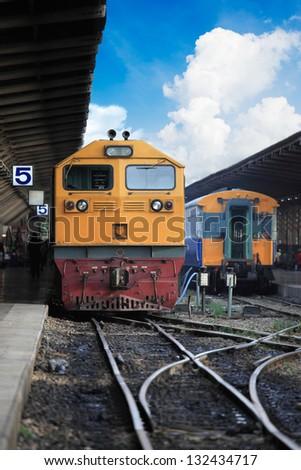 Train passing - stock photo