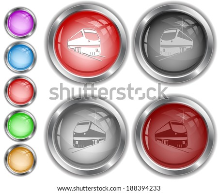 Train. Raster internet buttons.  - stock photo