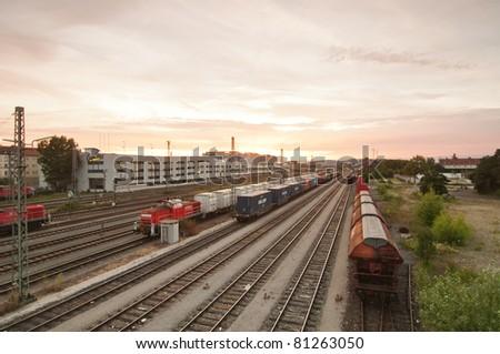 Train station, Bamberg, Germany - stock photo