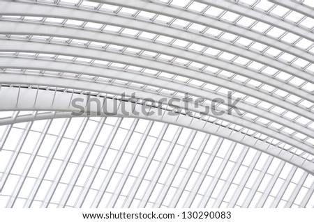 Train station Liege Belgium - impressive architecture - stock photo