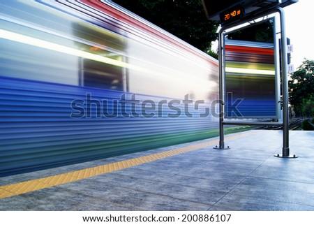 Train Trails - stock photo