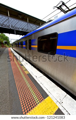 Train Waiting at the Station - stock photo