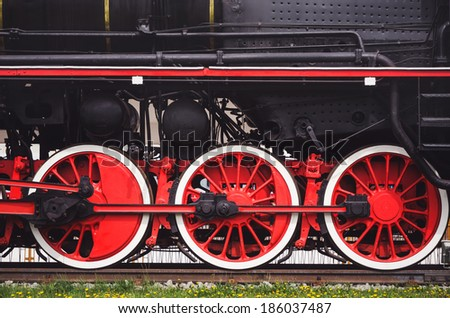 Train wheels - stock photo