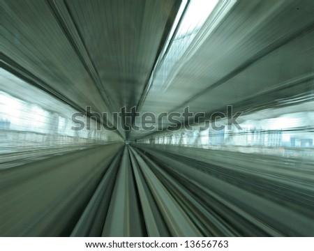 Train zoom blur - stock photo