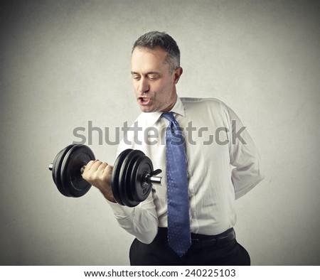 Trained businessman  - stock photo