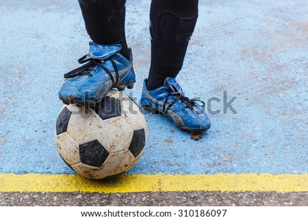Training and football soccer tournament - stock photo