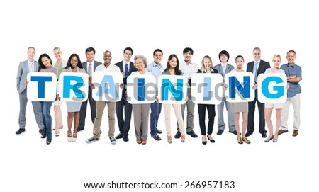 Training Business People Team Teamwork Success Strategy Concept - stock photo