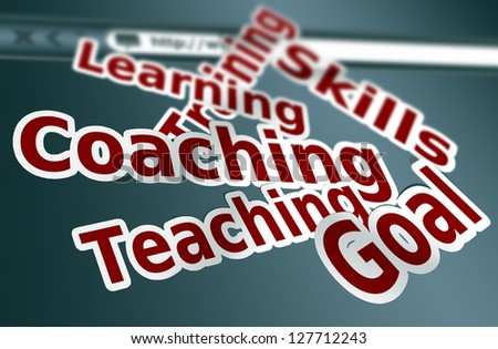 Training, coaching words concept - stock photo