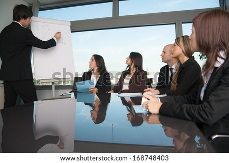 Training in board room - stock photo