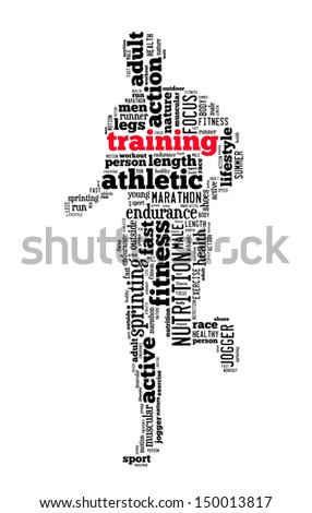 training info-text graphics and arrangement concept (word cloud) - stock photo