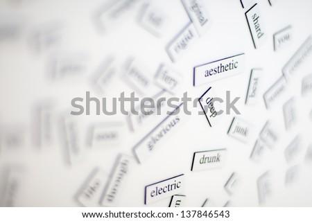 training of English vocabulary - stock photo