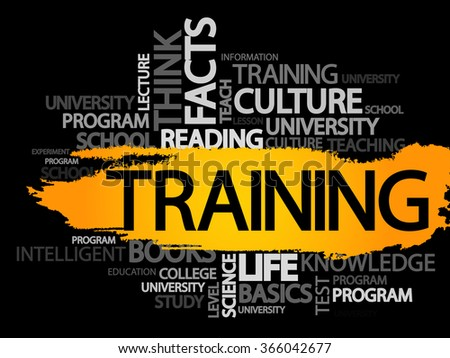 TRAINING. Word business collage, vector background - stock photo