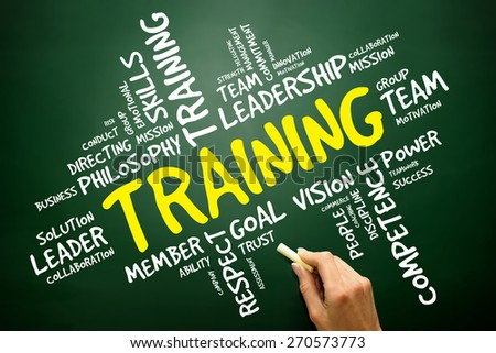 TRAINING word cloud, business concept - stock photo