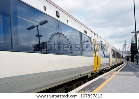 trains in london - stock photo